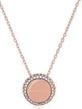 Michael Kors Women's Brilliance Rose Gold MK Necklace Crystals MKJ6180791 + BOX - $64.97