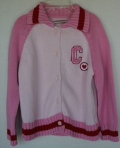 Nordstrom Kids Pink Toddler Sweater 4T with C Logo Cardigan - $5.93