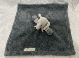 Blankets & Beyond Elephant Blanket Lovey Soft Gray Nice Shape - $17.99