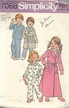 Simplicity 7068 Sz 5 Child's Robe in 2 Lengths & Pajamas PJs Boys Girls ... - $4.99