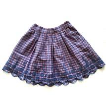 Gap Sarah Jessica Parker Plaid Girls Skirt M Medium Regular 8-9 Pink Blu... - $15.99