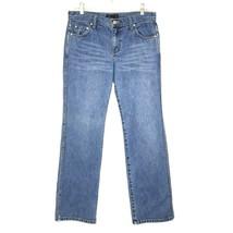 J Crew Women's Straight Leg Medium Wash Blue Denim Jeans 8 32 x 31 - $24.74