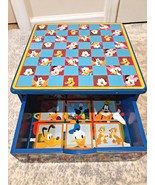 DISNEY MICKEY MOUSE CLUBHOUSE WOODEN Toy BOX STORAGE DRAWER Minnie Pluto... - $34.65