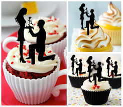 9th Anniversary Wedding,Birthday Cupcake topper,silhouette we still do : 10 pcs - $10.00