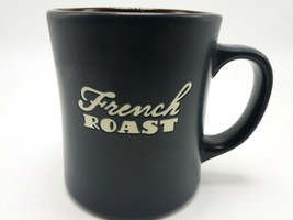 Starbucks French Roast Coffee Mug 2011 Dark Gray w/ brown inside - $9.99