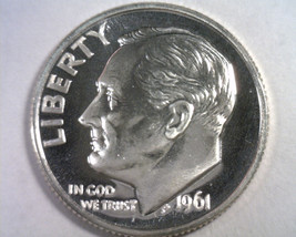 1961 ROOSEVELT DIME SUPERB PROOF CAMEO SUPERB PR CAM. NICE ORIGINAL COIN - $18.00
