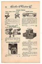 Chain Tools 1919 Catalog AD Chain Cutters Tire Tools Chains Advertising - $14.99