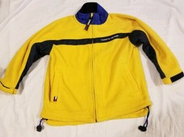 Vintage Yellow Tommy Hilfiger Fleece Jacket Youth Size 6 Full Zip  - $13.71