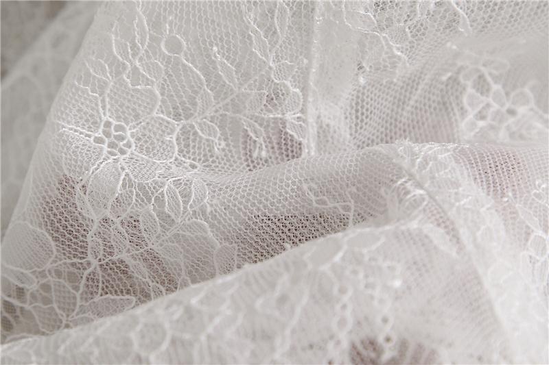 Bridesmaid lace tops crop 7