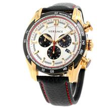 Versace V-Ray Chronograph VDB040014 SS Leather Quartz Men's Watch - $2,586.31