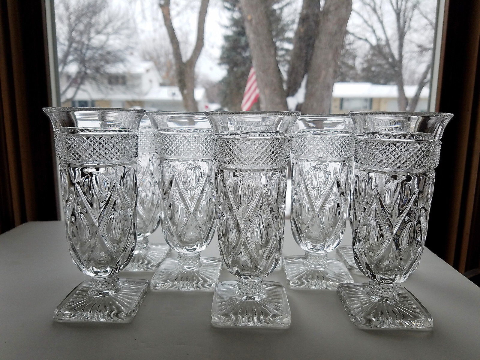 "Primary image for Imperial CAPE COD PARFAIT Glasses Set of 8 VFC Clear 5 7/8"" Tall VFC"
