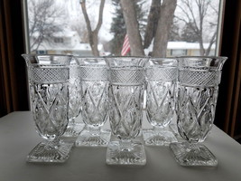 "Imperial Cape Cod Parfait Glasses Set Of 8 Vfc Clear 5 7/8"" Tall Vfc - $49.95"