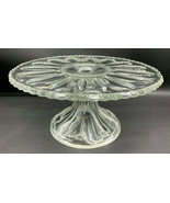 HEISEY Glass Pedestal Cake Salver Stand with Brandy Well Peerless #300 1... - $96.89