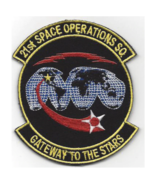 """5"""" AIR FORCE 21ST SPACE OPERATIONS SQ GATEWAY TO THE STARS EMBROIDERED PATCH - $23.74"""