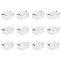 Sterilite 14948012 15 quart/14 L Latching Box 12 Pack - $95.99