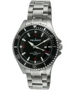 Peugeot Men's Silver Stainless Steel Black Dial Sport Bezel Pro Diver Watch - $200.47