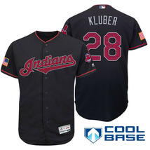 New Men's Cleveland Indians #28 Corey Kluber Jersey Navy Independence Da... - $771,83 MXN