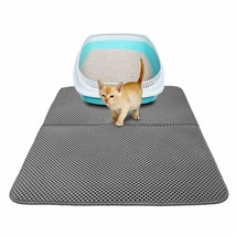 Black Gray Cat Litter Mat Double-Layer Bed Kitten Trapper Mats Waterproo... - $14.18+