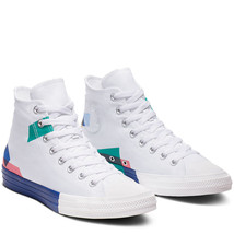 Converse Mens CTAS Hi Space Racer Canvas 165092C White/Blue/Enamel Red S... - $79.99