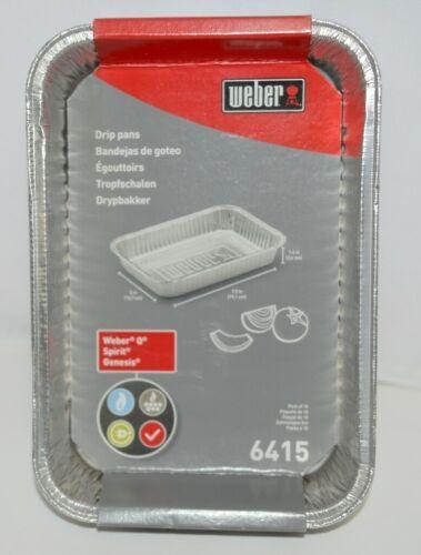 Weber 6415 Rectangular Foil Drip Pans Silver Color Set of 10