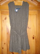 Ralph Lauren Blue Label NWT Wool/Cashmere Sleeveless Cable Belted Hoodie Size M - $151.00