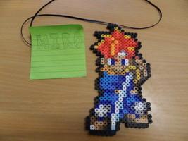 chrono trigger crono perler bead 8 bit nintendo game fuse pixel art sprite - $6.00