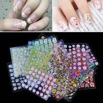 Nail Art Sticker Flowers 3D Design Decoration Tips Decals Art DIY Flower - $2.60