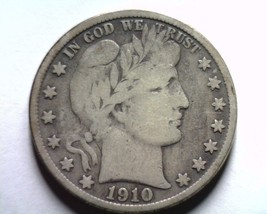 1910-S Barber Half Dollar Very Fine Vf Nice Original Coin Bobs Coins Fast Ship - $140.00