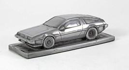 De Lorean DMC 12 Fluted Bonnet Pewter Effect Model Car 01DL - $35.61