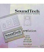 Soundtech SR15 SR15P SR15SUB SRSUBP Revolution Monitor Original Owner's ... - $11.87