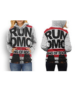 hoodie women zipper r4n 1diemce  king of rock - $48.99+