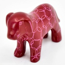 Vaneal Group Hand Carved Kisii Soapstone Red Standing Puppy Dog Figurine Kenya image 2