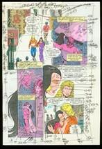 New Titans #66 Production Art Dc Color Guide - $303.13