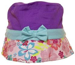 Little Girls Toddler TOT Sized Bucket Hat with Floral Print (Purple) - $3.91