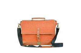 Canvas & Awl Canvas with Genuine Leather Trim Light Unisex Laptop Bag (O... - $110.65 CAD