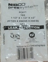 Nibco Press System PC611 Tee Leak Detection 9101450PC Package of 1 image 2