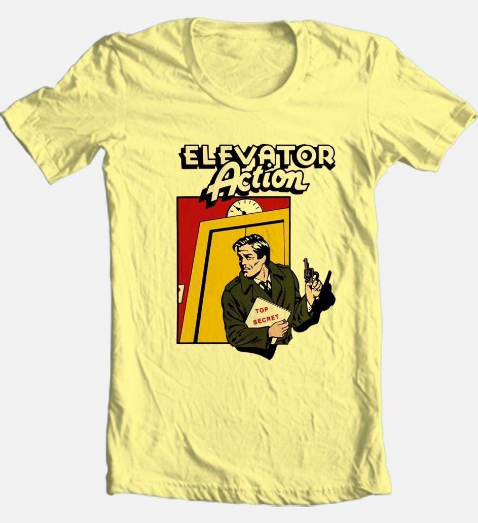 Elevator action tshirt retro arcade video game graphic tee