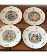 Vintage Lot of 4 Royal Doulton Valentine's Day Tableware Dessert Plates - $18.49