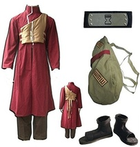 Naruto Sabaku No Gaara Cosplay Costume Full Set (bag and shoes) - $125.99+