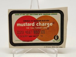 Trading Card Sticker 1970'S Wacky Packages Mustard Charge Brown Back - $7.15