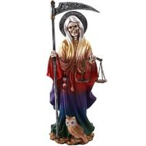Santa Muerte Saint of Holy Death Standing Religious Statue 10 Inch Seven... - $33.61