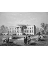 WHITE HOUSE in Washington DC - CIVIL WAR Era Print - $39.60