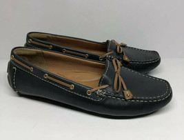 Clarks Artisan Enthralling Dunbar Groove Navy Womens Sz 10 Slip On Loafers Shoes - $24.74