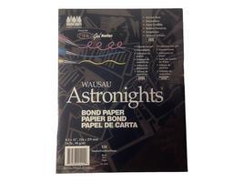 Wausau Astronights Bond Paper, Acid Free, 150 Sheets, Black