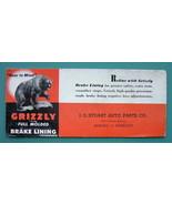 INK BLOTTER 1940s  - Grizzly Bear Full Molded Break Lining Memphis Tenne... - $4.49