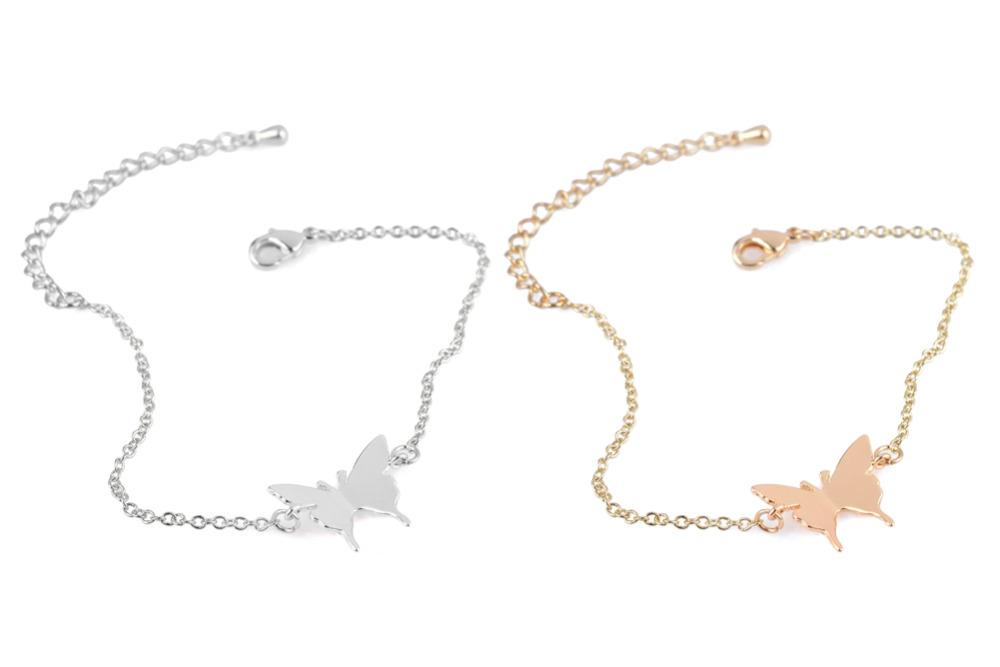 Cute Butterfly Chain Link Bracelets