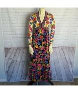 Goldworm | Size 8 Small Multi Color Floral Vintage 70's Maxi Dress Long ... - $155.93
