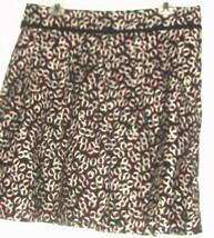 Women's Black Printed Fitted Waist Skirt Size 10 Ann Taylor Loft - $9.00