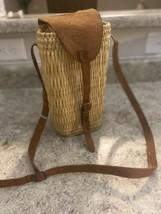 Wicker Woven Wine Bottle Holder / Wine Bag - - $30.00