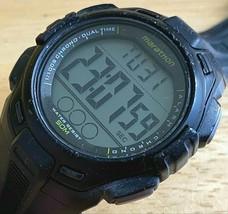 Marathon By Timex Mens 50m Black Digital Alarm Chrono Watch Hours~New Battery - $14.24